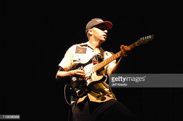 Tom Morello of Rage Against the Machine during Coachella Valley Music and Arts Festival Day 3 Rage Against The Machine at Empire Polo Field in Indio...
