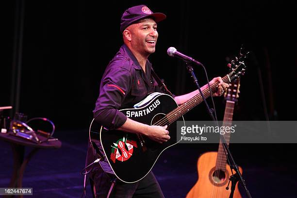 Tom Morello performing as part of Lincoln Center's American Songbook series at the Allen Room on Saturday night February 16 2013
