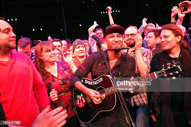 Tom Morello performing as part of Lincoln Center's American Songbook series at the Allen Room on Saturday night February 16 2013This imageTom Morello...
