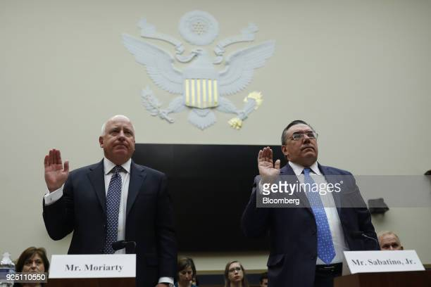 Tom Moriarty executive vice president and chief policy external affairs officer for CVS Health Corp left and Thomas Sabatino executive vice president...