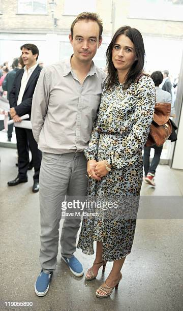 Tom Mullion and Emily Sheffield attend a private viewing of artists Jake and Dinos Chapman's new exhibit 'Jake or Dinos Chapman' at White Cube...