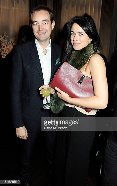 Tom Mullion and Emily Sheffield attend the London EDITION and NOWNESS dinner to celebrate ON COLLABORATION on October 14 2013 in London England