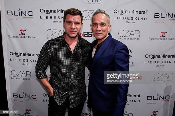 Tom Muro of FOX News and Cesar Galindo attend the CZAR by Cesar Galindo Spring 2014 Presentation during MercedesBenz Fashion Week at The Box in...