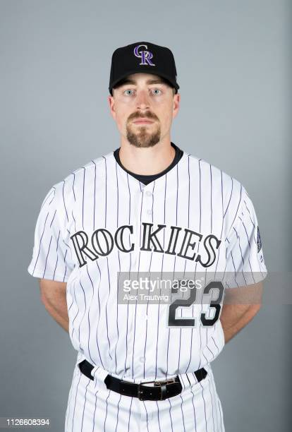 Tom Murphy of the Colorado Rockies poses during Photo Day on Wednesday February 20 2019 at Salt River Fields at Talking Stick in Scottsdale Arizona