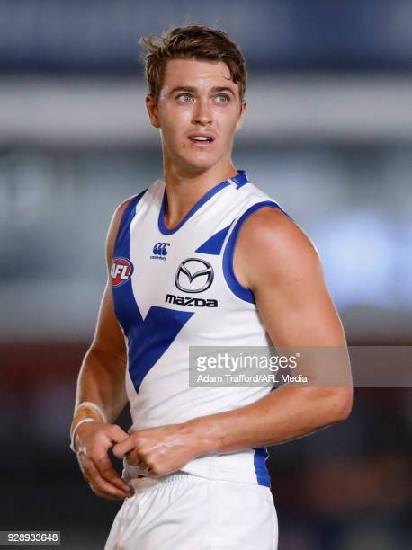 Tom Murphy of the Kangaroos looks on during the AFL 2018 JLT Community Series match between the Richmond Tigers and the North Melbourne Kangaroos at...