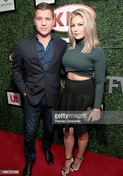Tom Murro and a geust attend KIA STYLE360 hosts Tumbler and Tipsy by Michael Kuluva on September 16 2015 in New York City