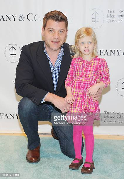 Tom Murro and daughter Lilly Morro attend the 22nd Annual Society Of Memorial SloanKettering Cancer Center Bunny Hop at FAO Schwarz on March 5 2013...