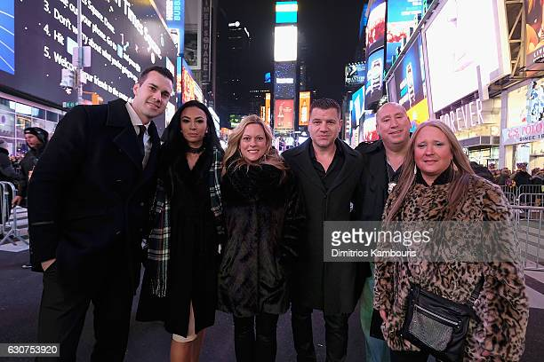 Tom Murro and guests attend New Year's Eve 2017 in Times Square on December 31 2016 in New York City