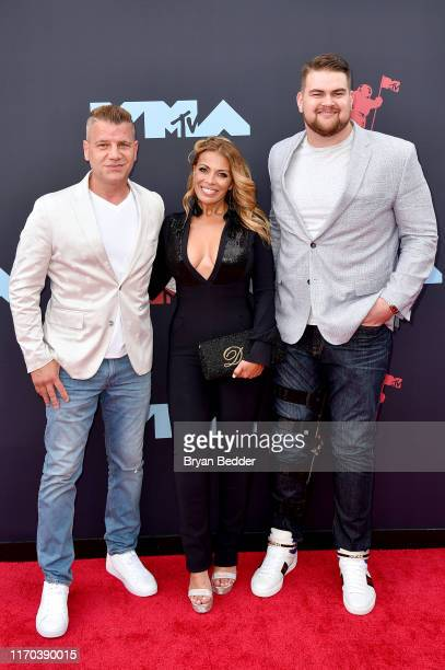 Tom Murro Dolores Catania and Brent Qvale attends the 2019 MTV Video Music Awards at Prudential Center on August 26 2019 in Newark New Jersey