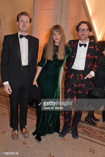 Tom Naylor Leyland Charlotte Colbert and Philip Colbert attend The Portrait Gala 2019 hosted by Dr Nicholas Cullinan and Edward Enninful to raise...