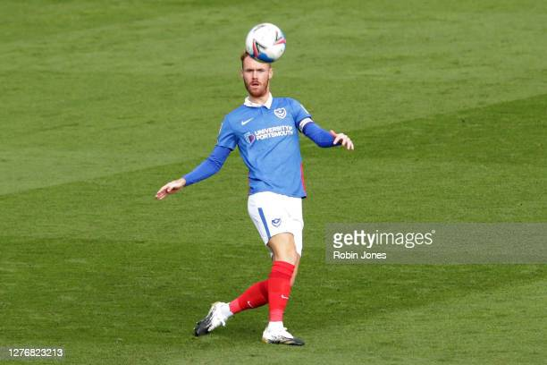 Tom Naylor of Portsmouth FC during the Sky Bet League One match between Portsmouth and Wigan Athletic at Fratton Park on September 26, 2020 in...
