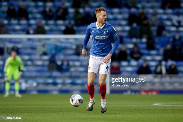 Tom Naylor of Portsmouth FC during the Sky Bet League One match between Portsmouth and Peterborough United at Fratton Park on December 05, 2020 in...