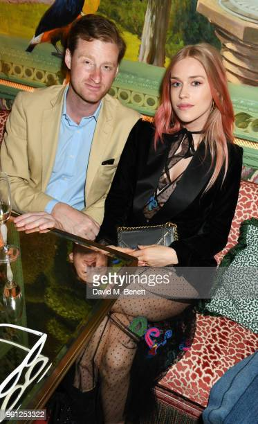 Tom NaylorLeyland and Mary Charteris attend the Annabel's x Dior dinner on May 21 2018 in London England