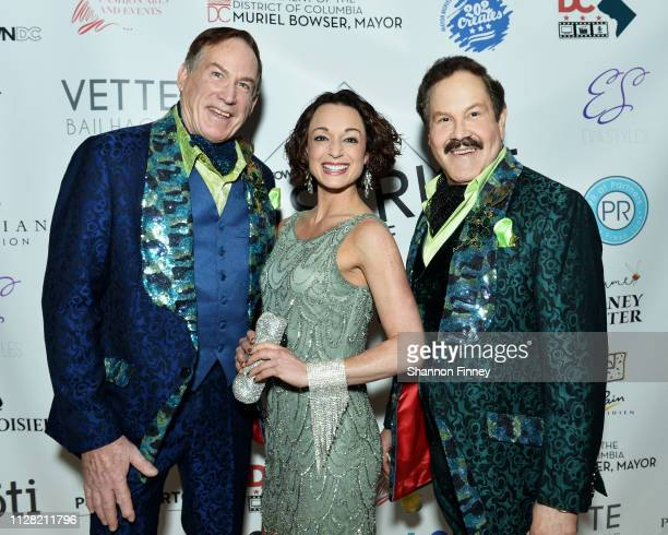 Tom Noll Martha Krabill and Jose Alberto Ucles DC Commissioner on the Arts and Humanities at the District of Fashion Fall/Winter 2019 Runway Show on...
