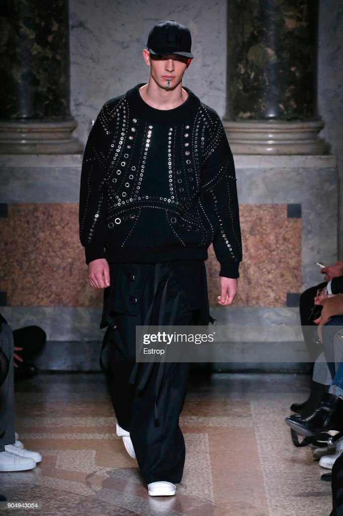 Tom Notte & Bart van de Bosch at the runway at the Les Hommes show during Milan Men's Fashion Week Fall/Winter 2018/19 on January 13, 2018 in Milan, Italy.