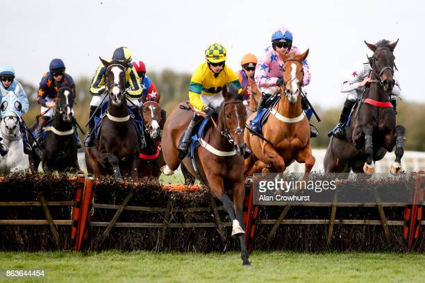 Tom OâBrien riding On Demand on their way to winning The Bet At racingukcom Handicap Hurdle Race at Wincanton racecourse on October 20 2017 in...