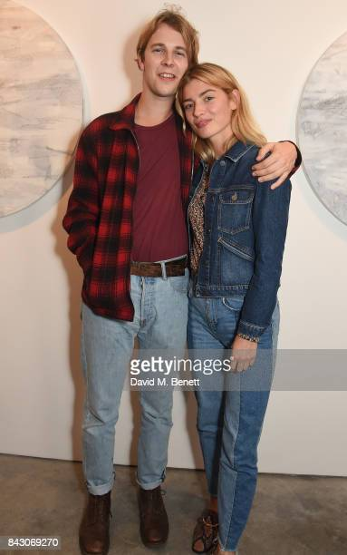 Tom Odell and Sydney Lima attend a private view of new exhibition 'The Belly and the Members' at The Cob Gallery on September 5 2017 in London England