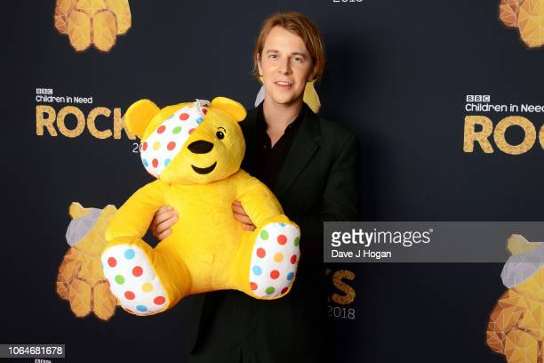 LONDON ENGLAND NOVEMBER 07 Tom Odell at The SSE Arena Wembley during filming for Children in Need Rocks 2018 airing on BBC One on November 15th at...
