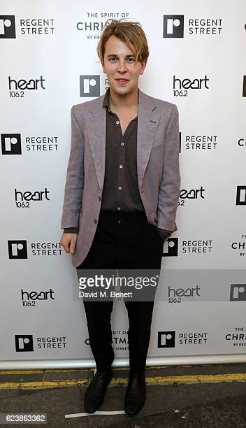 Tom Odell attends the Regent Street Christmas Lights switch on event with Heart at Regent Street on November 17 2016 in London England