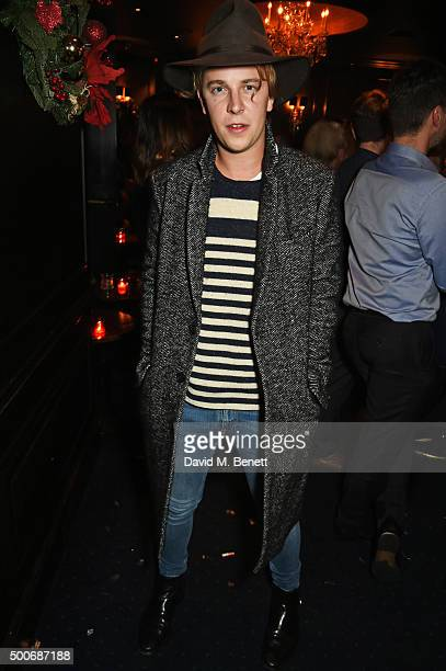 Tom Odell attends the Sunday Times Style Christmas Party at Tramp on December 9 2015 in London England
