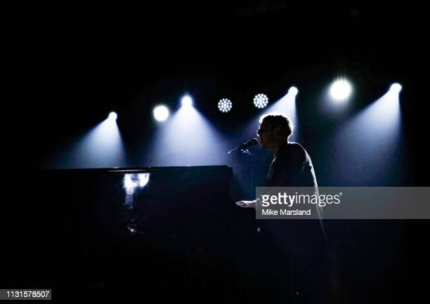 Tom Odell performers at Omeara part of the War Child BRITs Week in London on February 22 2019 in London England