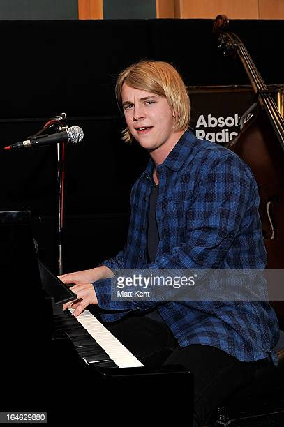 Tom Odell performs as part of the Absolute Radio sessions at Abbey Road Studios on March 25 2013 in London England