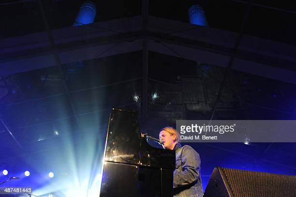 Tom Odell performs at the Battersea Power Station Annual Party on April 30 2014 in London England