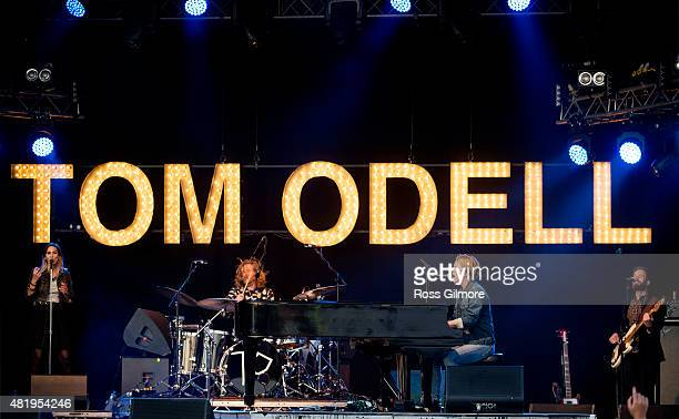 Tom Odell performs at the Wickerman festival at Dundrennan on July 25 2015 in Dumfries Scotland