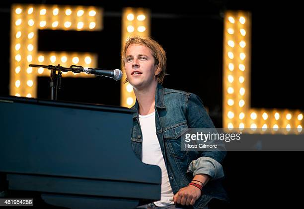 Tom Odell performs at the Wickerman festival at Dundrennan on July 25, 2015 in Dumfries, Scotland.