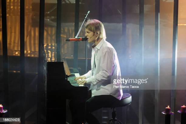 Tom Odell performs at 'X Factor 2013 IlLive' on November 14 2013 in Milan Italy