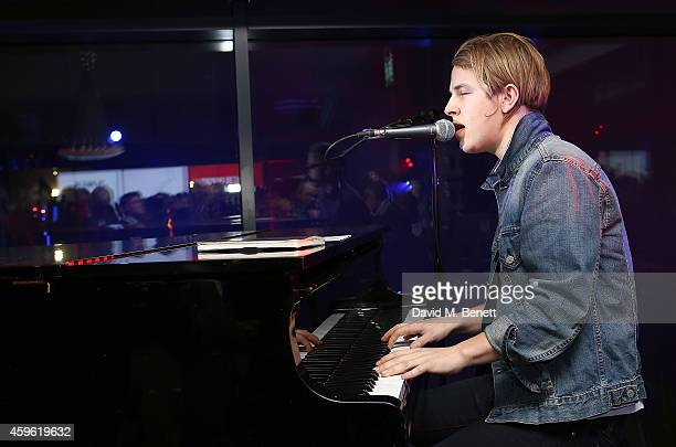 """Tom Odell performs during an exclusive party to celebrate the imminent arrival of """"City Island by Ballymore"""" - a new island neighbourhood for London..."""