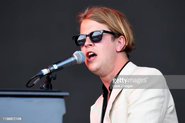 Tom Odell performs during day three of Glastonbury Festival at Worthy Farm Pilton on June 28 2019 in Glastonbury England