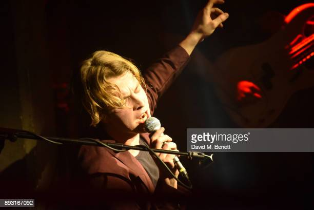 Tom Odell performs for Help Refugees at their annual Christmas party at The Jazz Cafe on December 14 2017 in London England