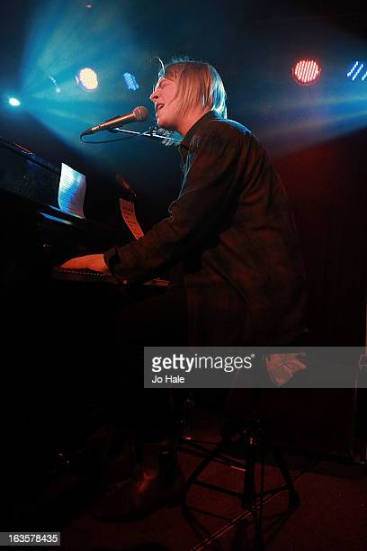 Tom Odell performs on stage at Dingwalls on March 12 2013 in London England