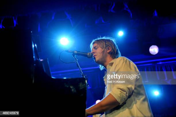 Tom Odell performs on stage at O2 Academy on February 13 2014 in Sheffield United Kingdom