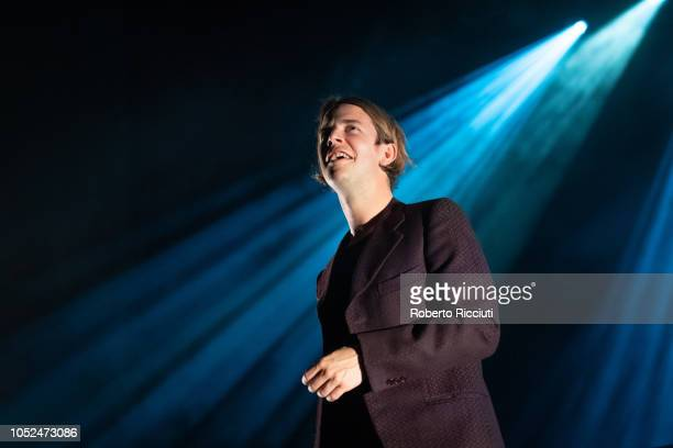 Tom Odell performs on stage at Usher Hall on October 18, 2018 in Edinburgh, Scotland.