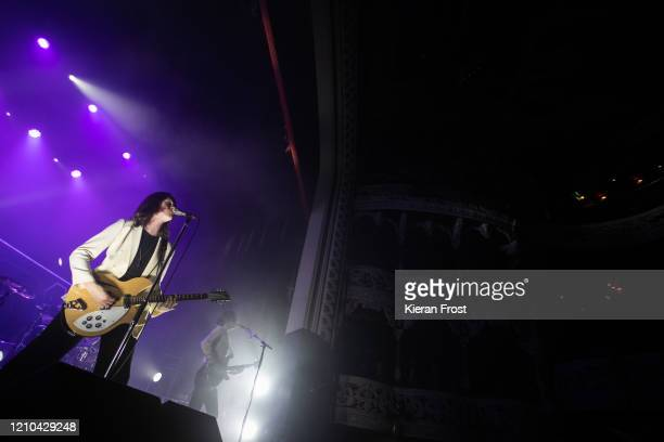 Tom Ogden and Charlie Salt of Blossoms perform at Olympia Theatre on March 04, 2020 in Dublin, Ireland.