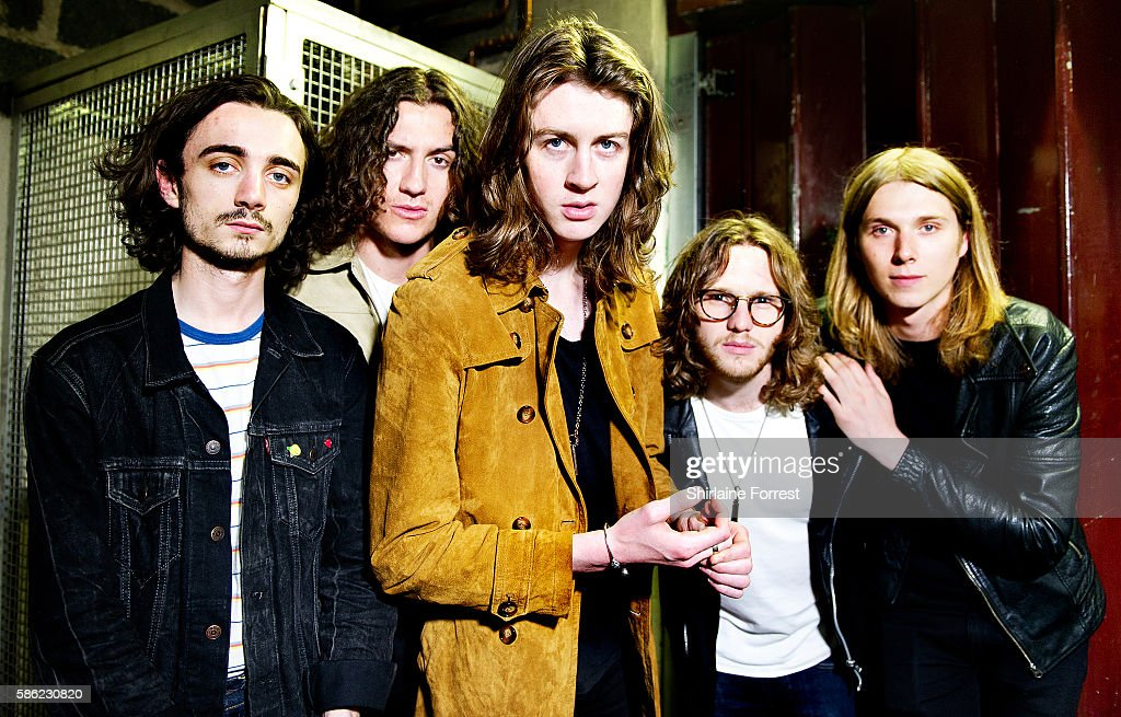 Tom Ogden, Charlie Salt, Josh Dewhurst, Joe Donovan and Myles Kellock of Blossoms pose backstage before performing a live acoustic set and signing copies of their debut album 'Blossoms' at HMV Manchester on August 5, 2016 in Manchester, England.