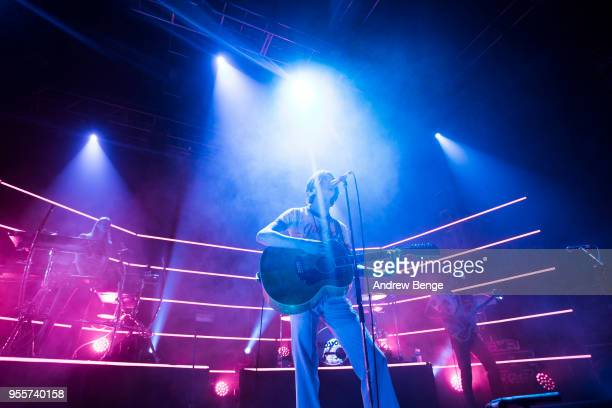 Tom Ogden Joe Donovan and Charlie Salt of Blossoms perform live on stage at O2 Academy Leeds on May 7 2018 in Leeds England