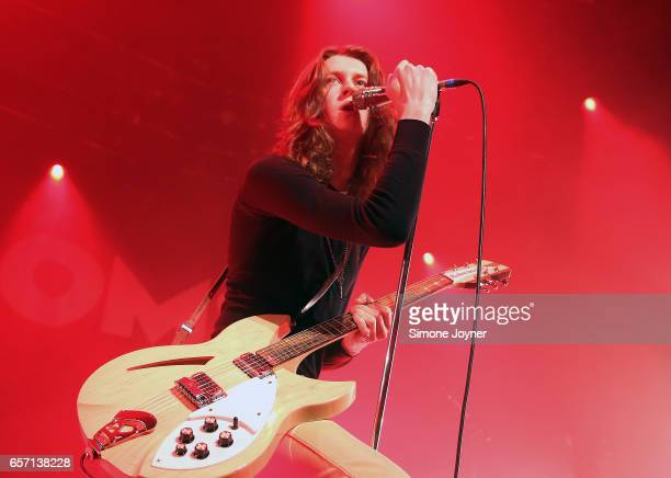 Tom Ogden of Blossoms perform live on stage at The Roundhouse on March 23 2017 in London United Kingdom