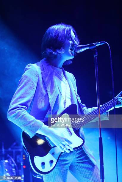 Nicky Wire of the Manic Street Preachers performing at Absolute Radio's 10th birthday gig at O2 Shepherd's Bush Empire on September 25 2018 in London...