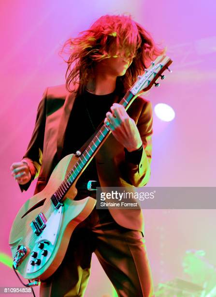 Tom Ogden of Blossoms performs at Castlefield Bowl on July 8 2017 in Manchester England