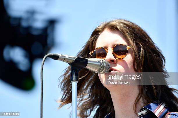 Tom Ogden of Blossoms performs at the Outdoor Stage during day 2 of the Coachella Valley Music And Arts Festival at the Empire Polo Club on April 15...