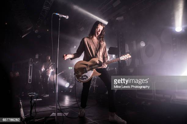 Tom Ogden of Blossoms performs at Tramshed during the NME Awards Tour on March 25 2017 in Cardiff United Kingdom