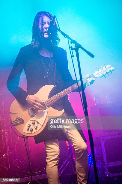 Tom Ogden of Blossoms performs headlining The Quarry stage on Day 3 of Y Not Festival 2016 at Pikehall on July 30 2016 in Matlock England