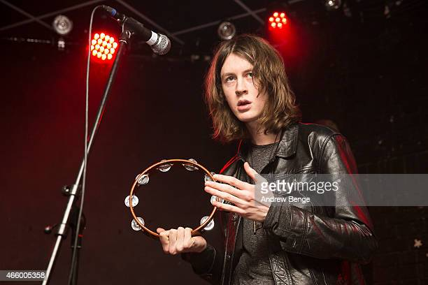 Tom Ogden of Blossoms performs on stage at Brudenell Social Club on March 12 2015 in Leeds United Kingdom