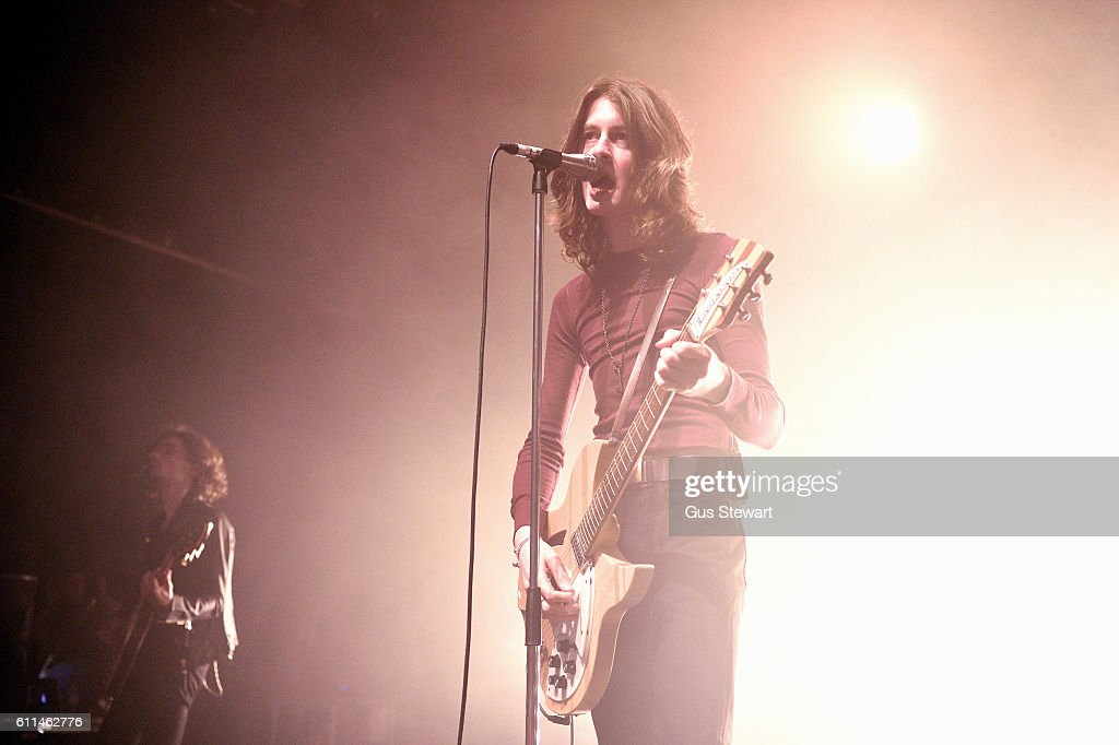 Tom Ogden of Blossoms performs on stage at The Forum on September 29, 2016 in London, England.
