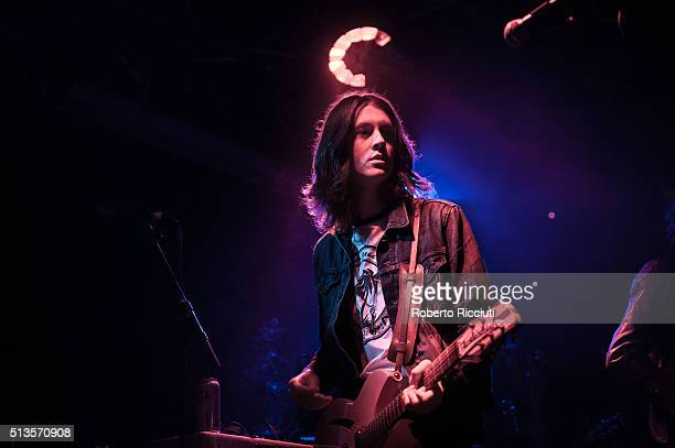 Tom Ogden of Blossoms performs on stage at The Liquid Room on March 3 2016 in Edinburgh Scotland