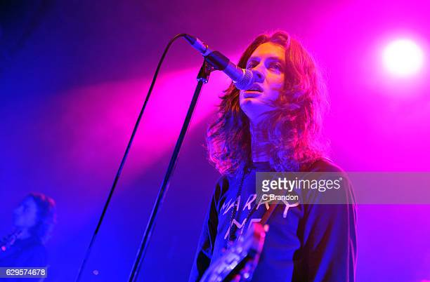 Tom Ogden of Blossoms performs on stage at the O2 Shepherd's Bush Empire on December 13 2016 in London England