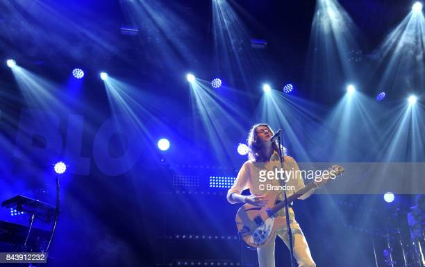 Tom Ogden of Blossoms performs on stage during Day 1 of Bestival at Lulworth Castle on September 7 2017 in Wareham England